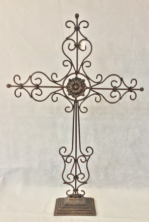 Metal Upright Cross Gift