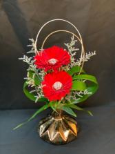 Metallic Mash Bud Vase