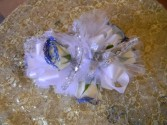 Mezmerized In Blue Wrist Corsage