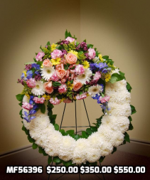 MF56396 Wreath with jette Funeral