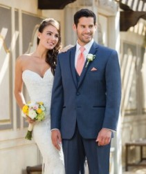 Michael Koors Slim Fit Navy Sterling Wedding Suite