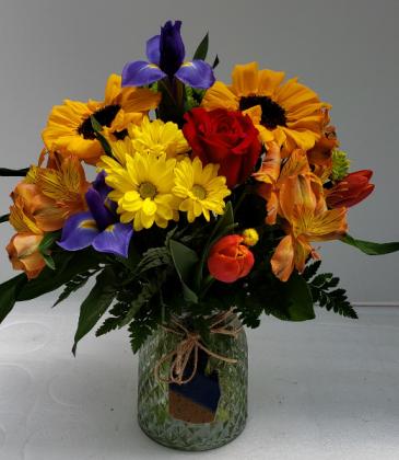 Michigan's Best Mom  Vase Arrangement with Keepsake Ornament