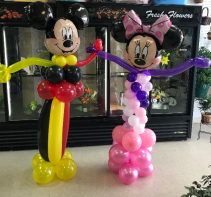 Mickey & Minnie Set Character Balloons