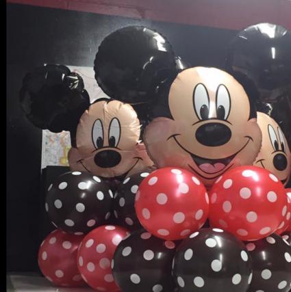 Mickey mouse balloon columns Mickey mouse balloon columns