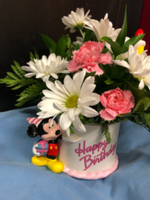 Mickey Mouse birthday cake bouquet