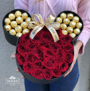 Micky Roses are Red Roses and Chocolate  in Dearborn, MI | LAMA'S FLORIST