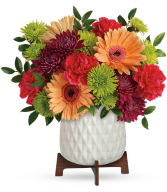 Mid Mod Brights  All-Around Floral Arrangement