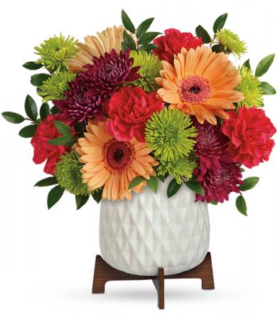 Mid Mod Brights  All-Around Floral Arrangement