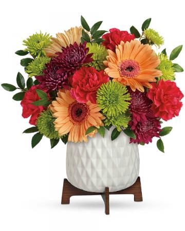 Mid Mod Brights Flower Arrangement
