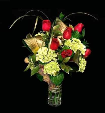 Midas Touch Floral 6 Roses Arrangement