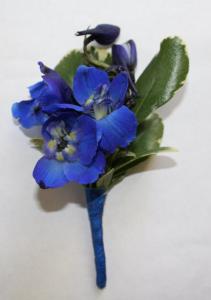 Midnight Blue Boutonniere