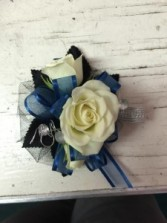 Midnight Blue Corsage