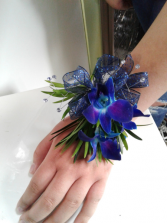 Midnight Blue Prom Corsage