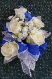 BLUE SUNSET WRIST CORSAGE