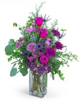 Midnight Magenta Flower Arrangement