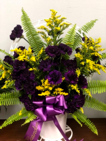 Midnight Purple Funeral Basket