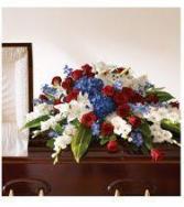 Military Funeral Floral Arrangement