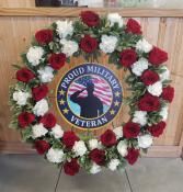 Military Wreath Easel