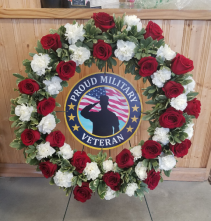 Military Wreath Easel