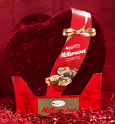 Millionaire & others still available Assorted Chocolates-heart shape