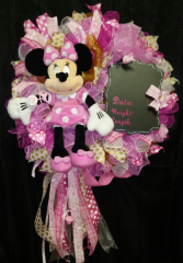 Minnie Mouse Baby Wreath