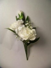 Mini Carnation Cluster Boutonniere