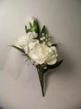 Mini Carnation Boutonniere 3 Blossom