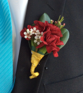 Mini Carnation (Burgundy) Boutonniere