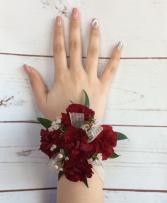 Mini Carnation (Burgundy) Wrist Corsage
