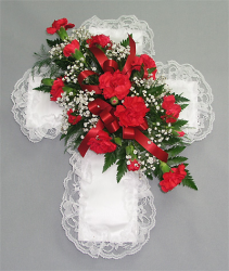 Mini-Carnation Cross Lid Piece