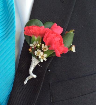 Mini Carnation (Hot Pink) Boutonniere