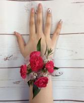 Mini Carnation (Hot Pink) Wrist Corsage