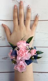 Mini Carnation (Pink) Wrist Corsage