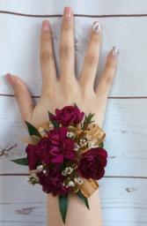 Mini Carnation (Purple) Wrist Corsage