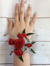 Mini Carnation (Red) Wrist Corsage