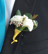 Mini Carnation (White) Boutonniere