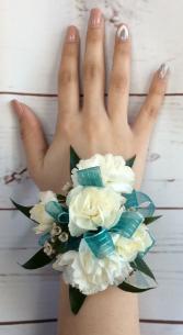 Mini Carnation (White) Wrist Corsage