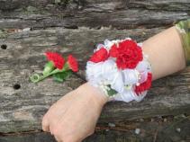 Mini Carnation Wrist Corsage  Fresh Wrist Corsage
