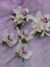 Mini Cymbid Orchid Corsage  Wrist or Pin on Corsage