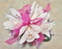 Mini Cymbidium Orchid Wristlet Corsage