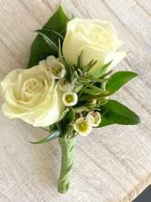Mini Garden Rose Boutonniere