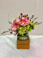 Mini Pedestal  Two-Piece Cube Arrangement