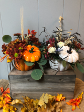 Mini Pumpkin Fall Arrangement