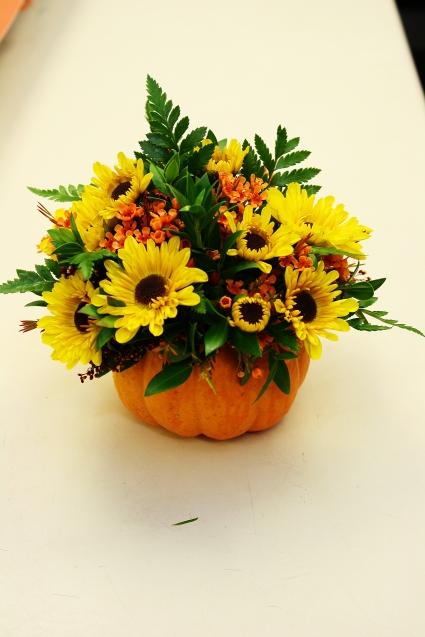 Mini Pumpkin Pleasures Floral Arrangement In Perry Mi Floral