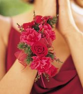 Mini Rose and Carn Wrist Corsage