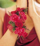 Mini Rose and Carn Wrist Corsage