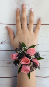 Mini Rose (Light Pink) Wrist Corsage