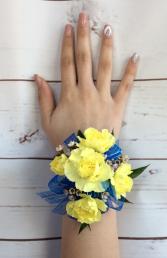 Mini Rose (Light Yellow) Wrist Corsage
