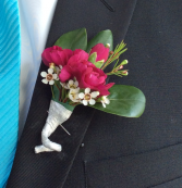 Mini Rose (Purple) Boutonniere