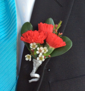 Mini Carnation (Red) Boutonniere